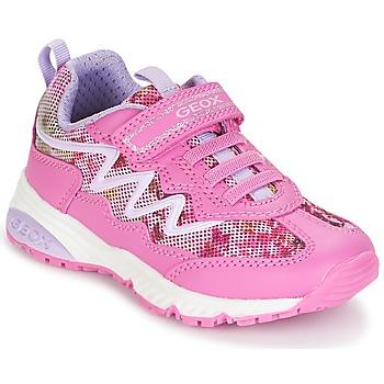 Skor Flick Sneakers Geox J BERNIE G. A Rosa / Lila / Vit