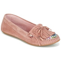 Skor Dam Loafers Ippon Vintage MOC-WAX-ROSE Rosa