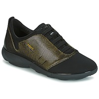 Skor Dam Sneakers Geox D NEBULA C Guldfärgad / Svart