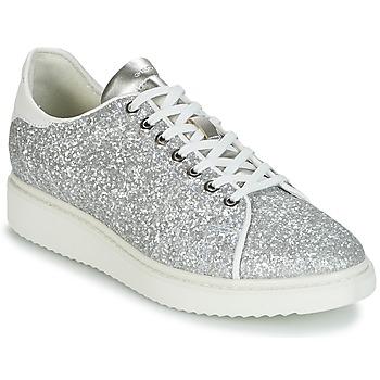 Skor Dam Sneakers Geox D THYMAR C Silver / Vit