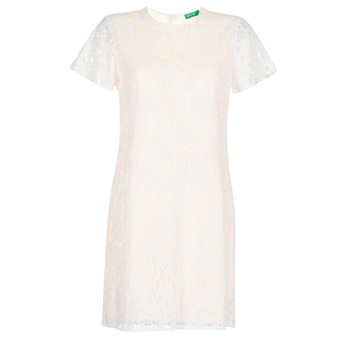 textil Dam Korta klänningar Benetton PRISTOUC Blå