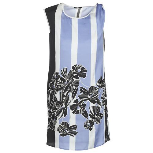 textil Dam Korta klänningar Sisley LAPOLLA Blå / Vit / Svart