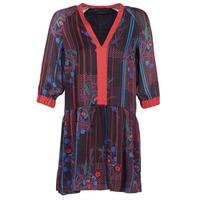 textil Dam Korta klänningar Sisley CEPAME Svart / Röd / Blå
