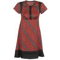 textil Dam Korta klänningar Sisley ZEBRIOLO Röd / Svart