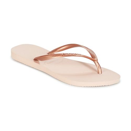 Skor Dam Flip-flops Havaianas SLIM Rosa / Guldfärgad