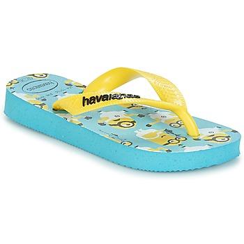 Skor Pojk Flip-flops Havaianas MINIONS Blå / Gul