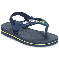 Skor Pojk Flip-flops Havaianas BABY BRASIL LOGO Marin / Gul