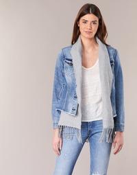 textil Dam Jeansjackor Scotch & Soda XAOUDE Blå / Ljus / Grå