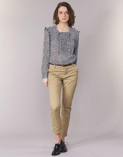 textil Dam Chinos / Carrot jeans Scotch & Soda BEIBEO Beige