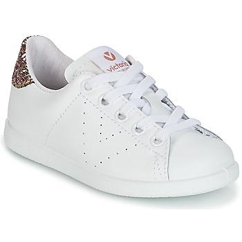Skor Flickor Sneakers Victoria DEPORTIVO BASKET PIEL KID Vit