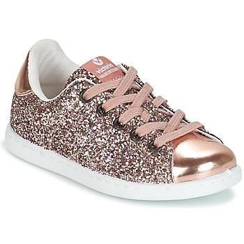 Skor Flickor Sneakers Victoria DEPORTIVO GLITTER KID Rosa