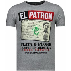 textil Herr T-shirts Local Fanatic El Patron Narcos Billionaire Grå