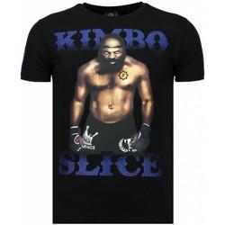 textil Herr T-shirts Local Fanatic Kimbo Slice Rhinestone Svart