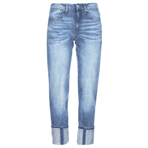 textil Dam Jeans 3/4 & 7/8 G-Star Raw LANC 3D HIGH STRAIGHT Blå
