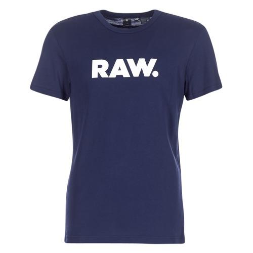 textil Herr T-shirts G-Star Raw HOLORN R T S/S Marin