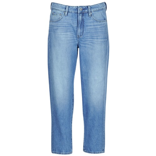 textil Dam Jeans boyfriend G-Star Raw 3301 HIGH BOYFRIEND 7/8 WMN Destroy