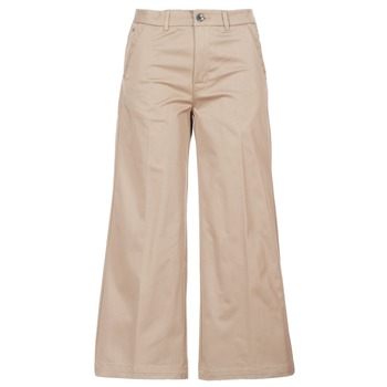 textil Dam Chinos / Carrot jeans G-Star Raw BRONSON HIGH LOOSE CHINO 7/8 WMN Beige