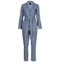 textil Dam Uniform G-Star Raw DELINE JUMPSUIT WMN L/S Blå / Vit