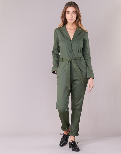textil Dam Uniform G-Star Raw DELINE JUMPSUIT WMN L/S Kaki