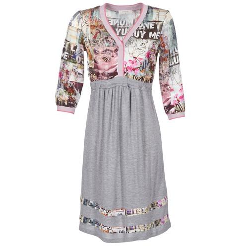 textil Dam Korta klänningar Cream ZAIROCE Grå