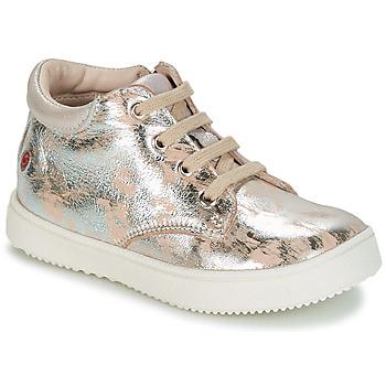 Skor Flickor Höga sneakers GBB SACHA Beige / Silverfärgad
