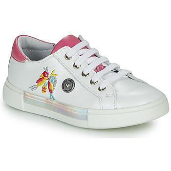 Skor Flickor Sneakers Catimini SYLPHE Vit / Rosa