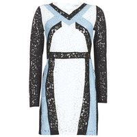 textil Dam Korta klänningar Morgan RLIXI Vit / Svart / Blå