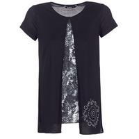 textil Dam T-shirts Desigual NUTILAD Svart