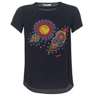 textil Dam T-shirts Desigual NAIKLE Svart