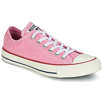 Skor Dam Sneakers Converse Chuck Taylor All Star Ox Stone Wash Rosa