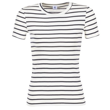 textil Dam T-shirts Petit Bateau  Vit / Marin