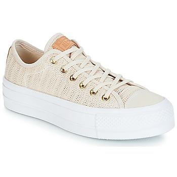Skor Dam Sneakers Converse Chuck Taylor All Star Lift-Ox Beige / Vit