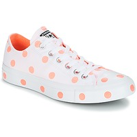 Skor Dam Sneakers Converse Chuck Taylor All Star-Ox Vit / Orange