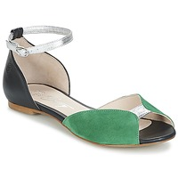 Skor Dam Sandaler Betty London INALI Svart / Silverfärgad / Grön