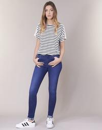 textil Dam Skinny Jeans Pepe jeans REGENT Blå