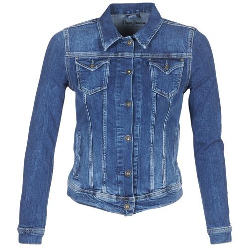 textil Dam Jeansjackor Pepe jeans THRIFT Blå