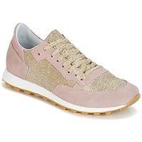 Skor Dam Sneakers Yurban CROUTA Rosa / Guldfärgad