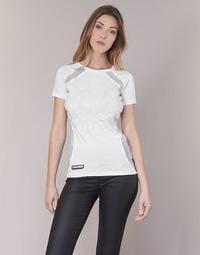 textil Dam T-shirts Philipp Plein Sport FORMA LINEA Vit / Vit