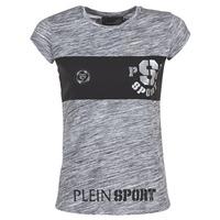 textil Dam T-shirts Philipp Plein Sport THINK WHAT U WANT Grå