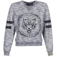 textil Dam Sweatshirts Philipp Plein Sport LET YOUR MIND FREE Grå