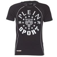 textil Herr T-shirts Philipp Plein Sport LIONEL Svart / Vit
