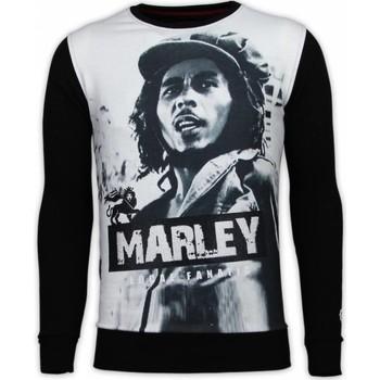 textil Herr Sweatshirts Local Fanatic Bob Marley Digital Rhinestone Svart