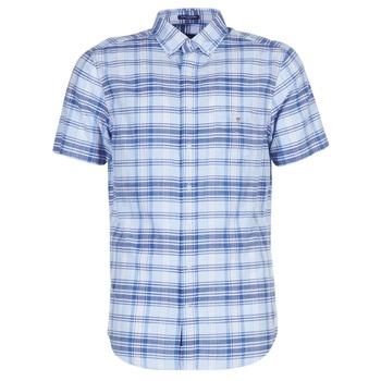 textil Herr Kortärmade skjortor Gant BLUE PACK MADRAS REG Blå