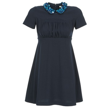 textil Dam Korta klänningar Manoush COMMUNION Blå
