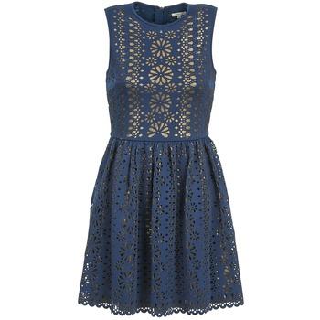 textil Dam Korta klänningar Manoush NEOPRENE Blå / Guldfärgad