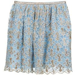 textil Dam kjolar Manoush ARABESQUE Blå / Guldfärgad