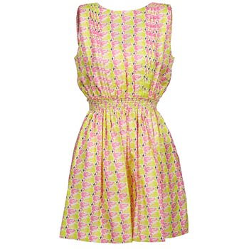 textil Dam Korta klänningar Manoush FLAMINGO Rosa / Neon / Gul