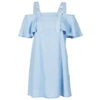 textil Dam Korta klänningar Guess RACUNO Blå