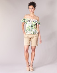 textil Dam Shorts / Bermudas Guess BENARIO Beige