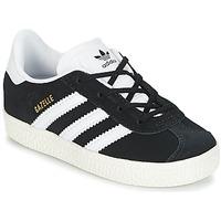 Skor Barn Sneakers adidas Originals GAZELLE I Svart / Vit